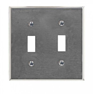 Switchplate Brushed Stainless Steel Double Toggle | Renovators Supply