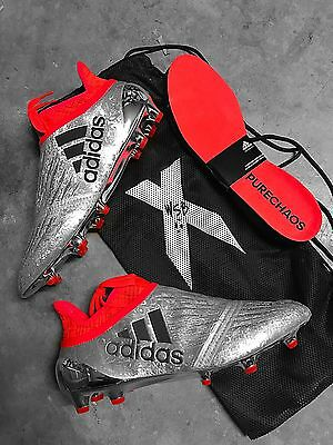 Adidas X 16+ Purechaos FG Soccer Cleats Football Boots Red/Black/Silver