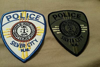 2 Silver City NM Police Patches Color and Subdued