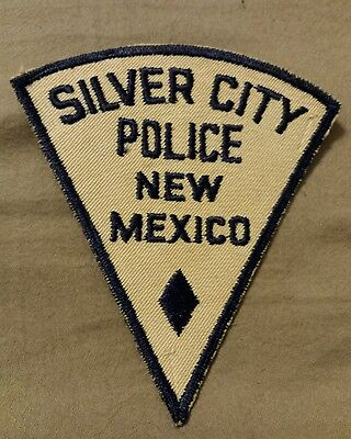Rare Old Silver City NM Police Patch Cheesecloth