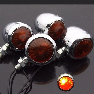4x Motorcycle Turn Signal Lights Indicator Lamp Bulb Blinker Ampoule Universal