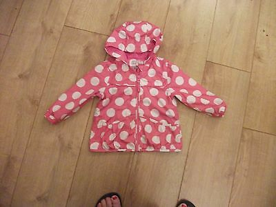 Girls M And S Pink Mac 12-18 Months