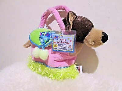New with Tag - Ganz Webkinz plush pet carrier ( brown dog ) ( great gift )