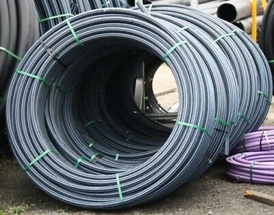 FREE DELIVERY SYD / NEW 1 ROLL OF 50mm X 150m pn12.5 BLUE STRIPE POLY PIPE.