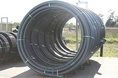 FREE DELIVERY SYD / NEW 1 ROLL OF 75mm X 100m pn 10 BLACK POLY PIPE.