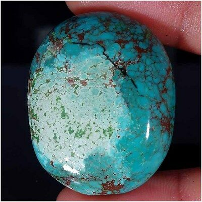 78.60Cts. 100% NATURAL TIBET TURQUOISE OVAL CABOCHON UNTREATED LOOSE GEMSTONES
