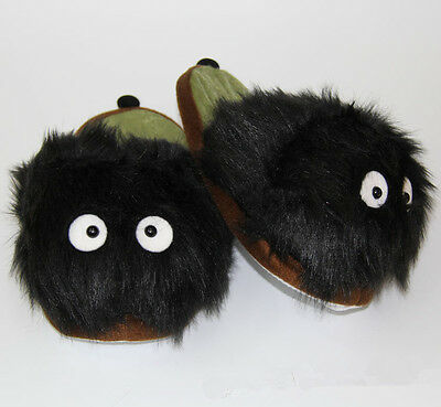 My Neighbor Totoro Adult Plush Figure Doll Slipper Black Dust Bunny Slipper Gift