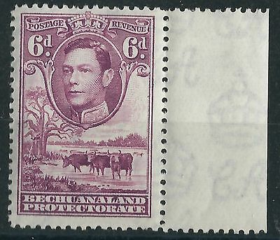 L204) Bechuanaland Prot. 1938/52. MM. SG 124 6d Reddish-purple with margin
