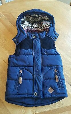 Next Girls Navy Fully Lined Body Warmer/gilet 5 Years