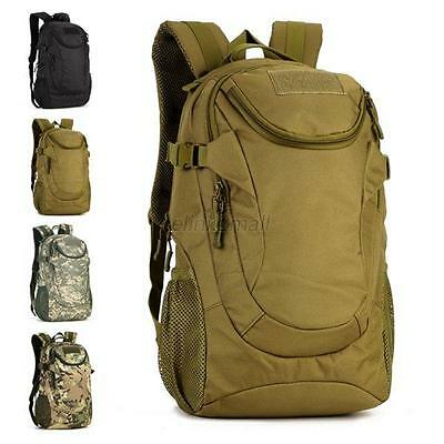 25L Outdoor Hiking Camping Bag Army Military Rucksack Sports Cycling Backpack