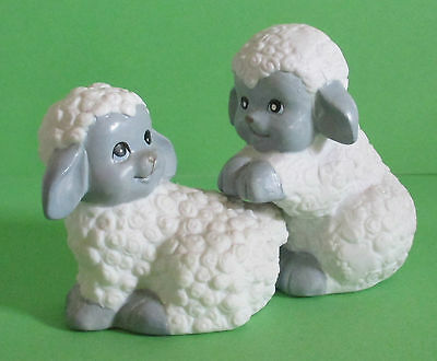 Cute Pair Lambs Salt And Pepper Shakers