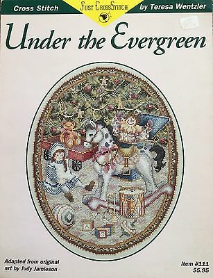 Christmas USA Cross Stitch PATTERN Only Under The Evergreen