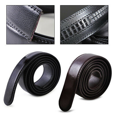 1.1M Mens Genuine Leather Belt Automatic Waistband Waist Strap without Buckle