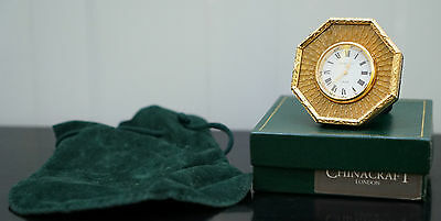 Very Nice Brand New And Boxed Gold Plated Kitney & Co London Travel Mantle Clock