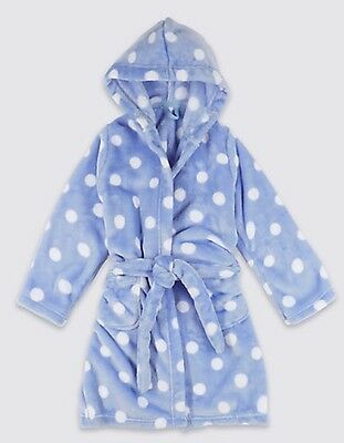M&S Shimmersoft Fleece Hooded Dressing Gown. 3-4 Years. New
