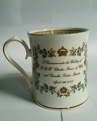 Aynsley commemorative cup Charles and Camilla Wedding