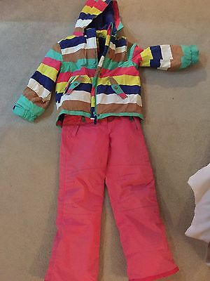 Girls Ski Jacket And Trousers. Age 7-8
