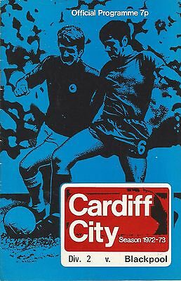 Cardiff City v Blackpool, 26 August 1972, Division 2