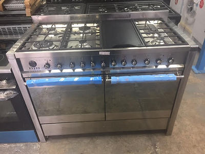 Smeg A4-8 Dual Fuel Range Cooker, Stainless Steel 120cm