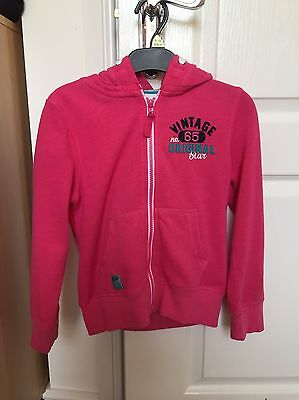 Next Girls pink Hoodie Aged 9 Years