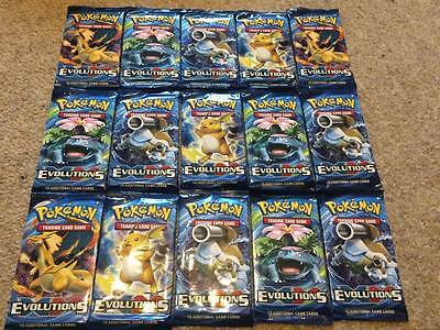 Pokemon XY Evolutions Booster Packs New/Sealed New Trading Cards 2016
