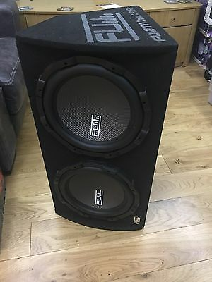 """FU12 FLI 12"""" Twin Active Sub Subwoofer & Amp Amplifier in Box / Enclosure 2000w"""