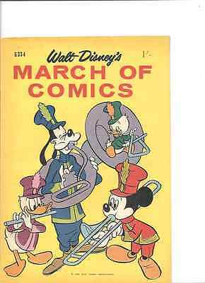 March of Comics G 334, Australian Disney, 1965, Fine-.