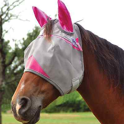 Cashel Crusader Breast Cancer Fundraising Fly Mask With Ears Horse Pony