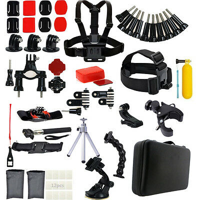 59in1 Head Chest Mount For GoPro Hero 2 3 3+ 4 5 SJ4000 Camera Accessories Set