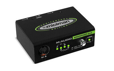 M-Audio MIDISPORT 2x2 Anniversary Edition USB Bus Powered MIDI Audio Interface