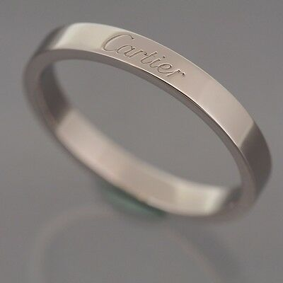 Cartier Platinum 950 Engraved Wedding Band Ring With Certificate & Box 61