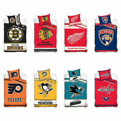 NHL National Hockey League Fan Ropa de Cama cama Lino Hockey sobre hielo