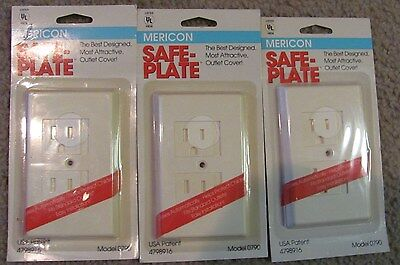 Child Safety Mericon Safe Plate For Outlet Covers New Set 3 Model 0790