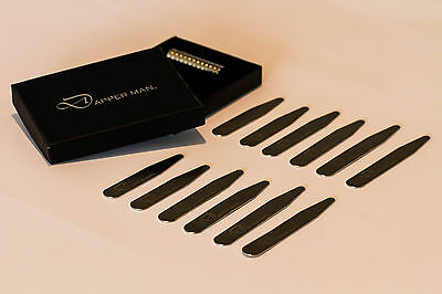 Stocktake sale - magnetic collar stays - 6 pairs, 3 Sizes in one pack
