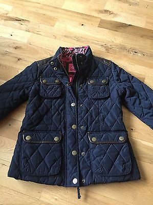 Navy Lightly Girls Quilted Type Coat, Age9-10