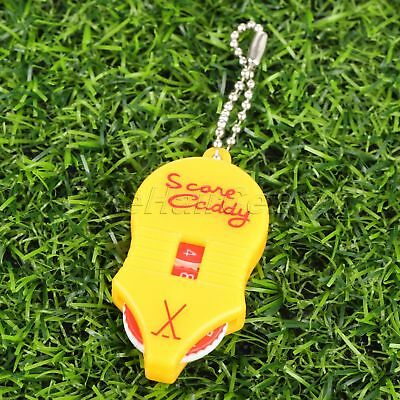Portable Plastic Golf Score Keeper With key chain Pocket-sized Gift For Golfing