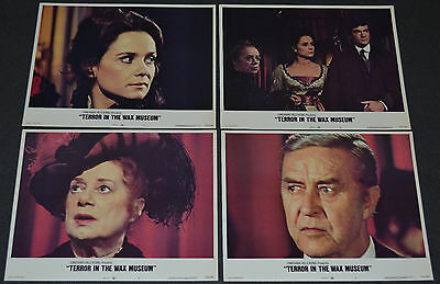 Terror In The Wax Museum 1973 Orig. Lobby Card Set Of 8! Elsa Lanchester Horror!