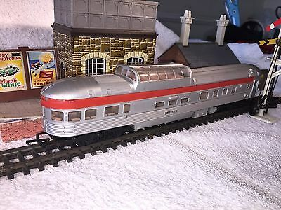 Tri-ang USA Transcontinental Red & Silver Observation Coach '91119'