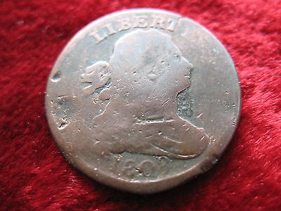 1808 U.S. Draped Bust Half Cent, VERY VISIBLE DATE! Historic Early American!
