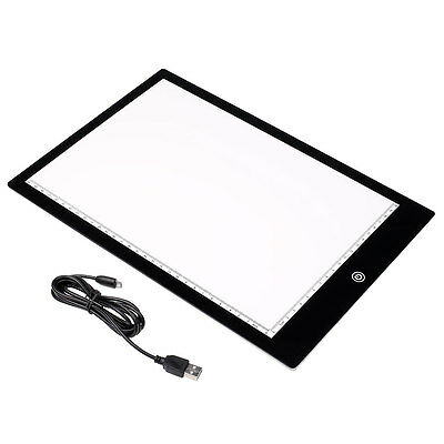 A4 LED Artcraft Tracing Light Pad Copy Board Artists Drawing Sketching