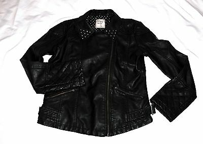 Girls Next Black Leather Faux Jacket 15/16