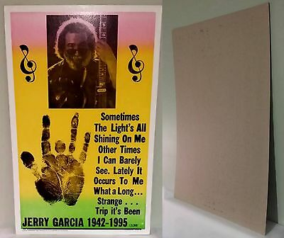 "JERRY GARCIA 1942-1995 Nostalgia Heavy Stock 22""x14"" Poster-NEW"