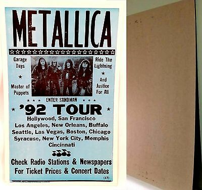 "METTALICA '92 TOUR Nostalgia Heavy Stock 22""x14""  Poster-NEW"