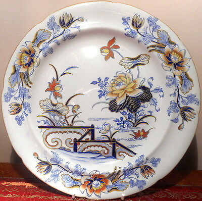 Wedgwood's Stone China Lotus Pattern Plate Made 1817-29 In Perfect Condition
