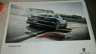 "Porsche ""The new 911 GT3 cup"" rear view poster"