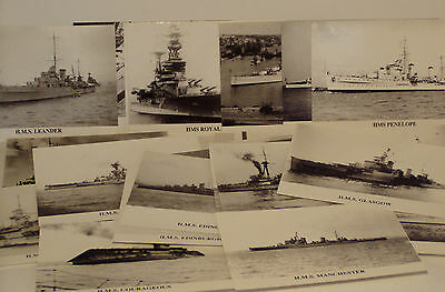 x28 Postcards  Assorted Warships  issued early 1990`s