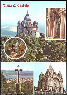 Portugal -  Multi Views  Posted 1987 Stamp Intact