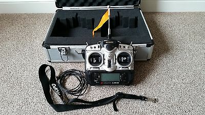 JR X2610 6 channel RC transmitter with hard case and accessories.