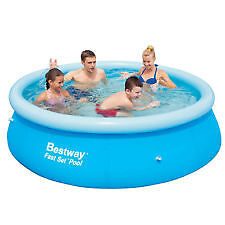 Bestway 8 foot Fast Set Inflatable Above Ground Swimming Pool