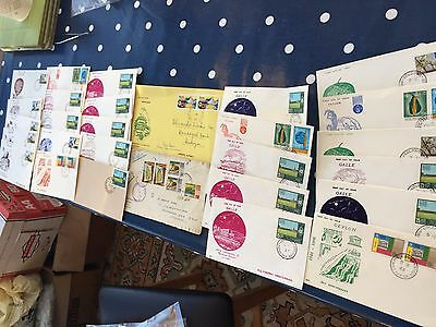 Sri Lanka Ceylon 27 FDC first day covers and 1 letter front nice lot